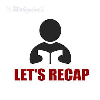 Let's Recap :16.08.2017