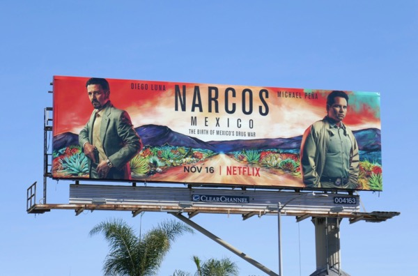 Narcos Mexico series billboard