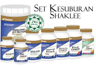 set kesuburan, shaklee, GLA, Zinc Complex,ESP,Alfalfa, Vitamin E, Vita-Lea