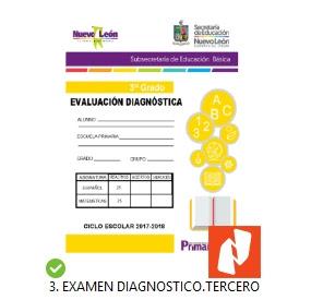 Examen Diagnostico 3er grado primaria