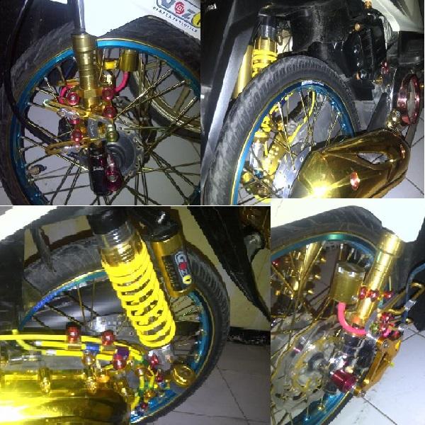 Modif Honda beat Putih 2011 full variasi CAKEP  Oto Trendz