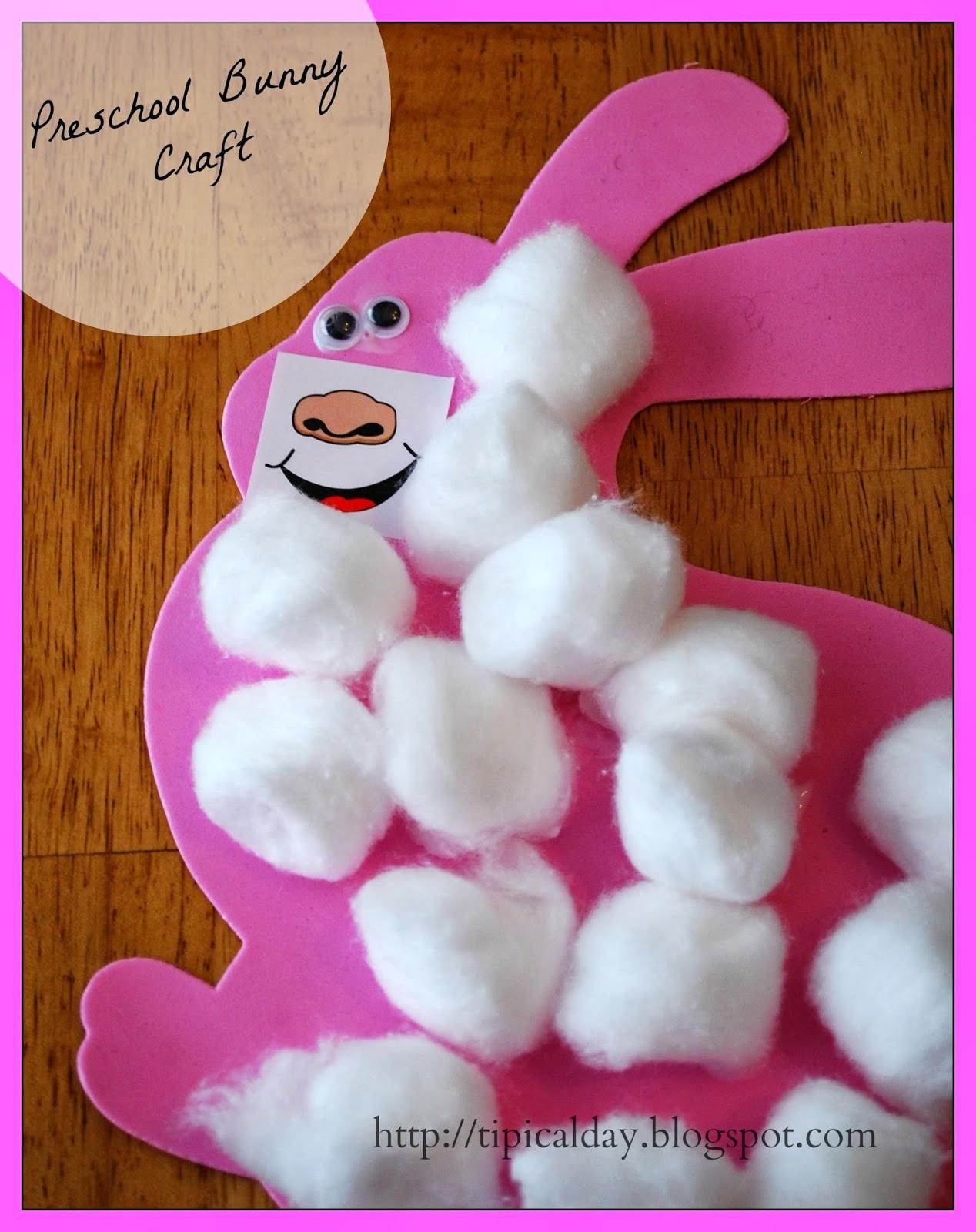 Easy Bunny Preschool Craft A Tipical Day