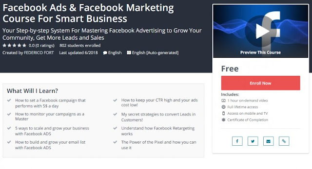 [100% Free] Facebook Ads & Facebook Marketing Course For Smart Business