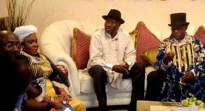 Jonathan Hosts Obasanjo In Bayelsa