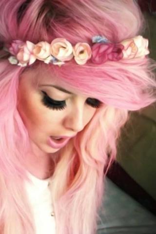 Chica de pelo rosa follada