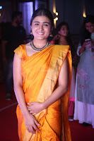 Shalini Pandey in Beautiful Orange Saree Sleeveless Blouse Choli ~  Exclusive Celebrities Galleries 054.JPG