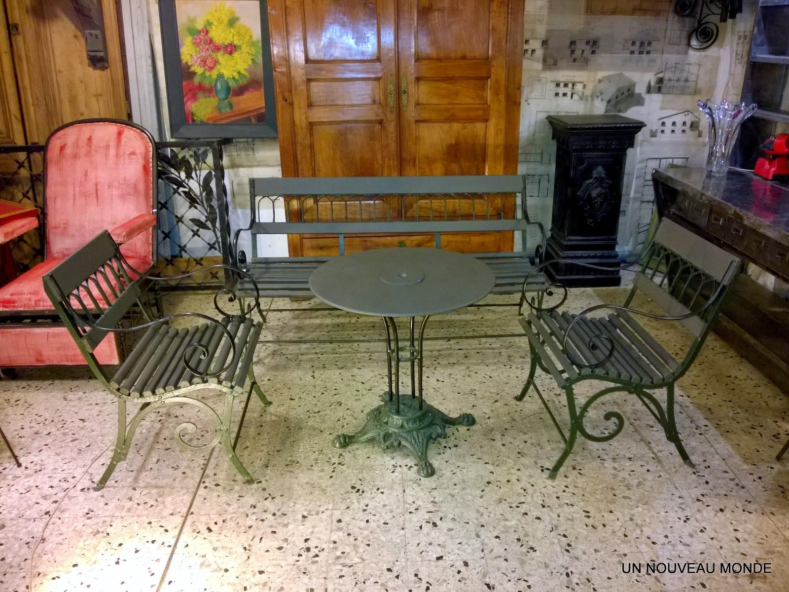 Salon De Jardin Fer Forge Couleur | Salon De Jardin En Fer Forgé ...