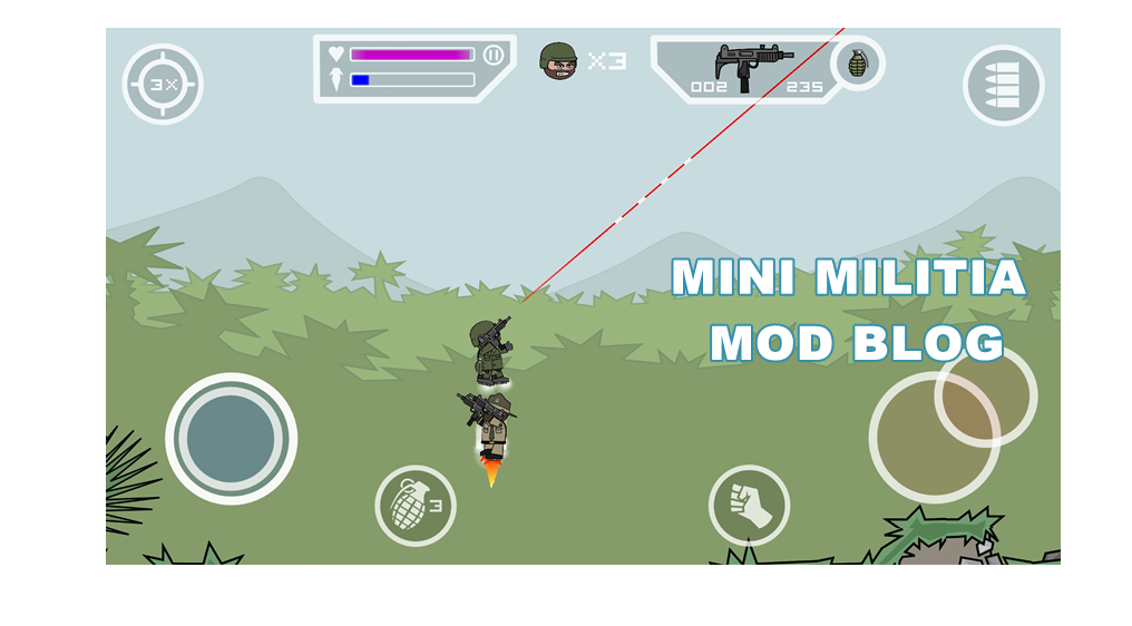 Mini Militia Laser Sight Mod With Pro Pack 4 0 42 Mini