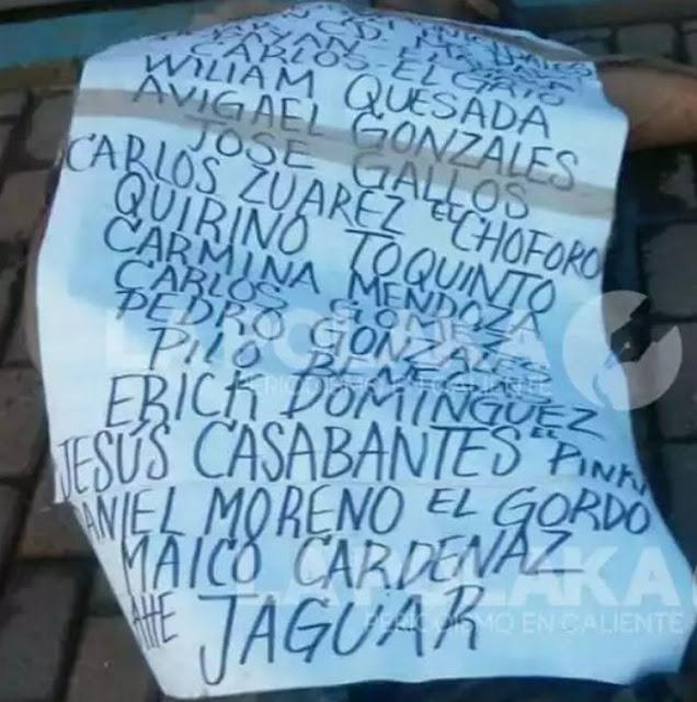 Sicarios del Cartel del Jaguar dejan ejecutado y amenazan a policías en Chihuahua.