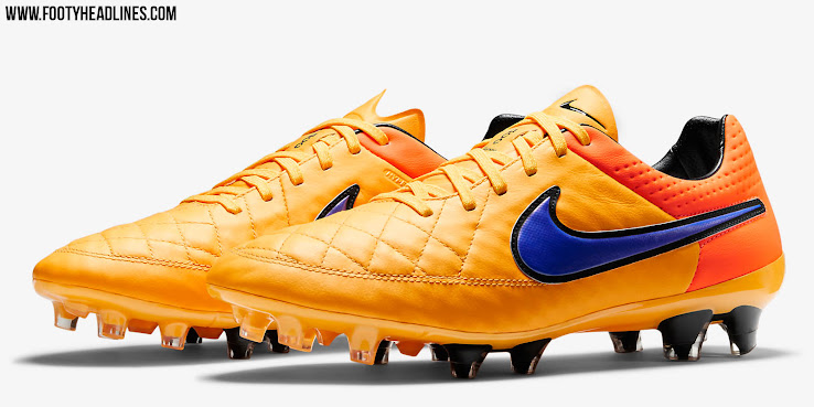 save off c1fae 2d4b9 Orange Nike Tiempo Legend V 2015 Boots Released - Footy ...