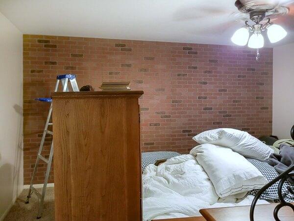 faux brick focal wall