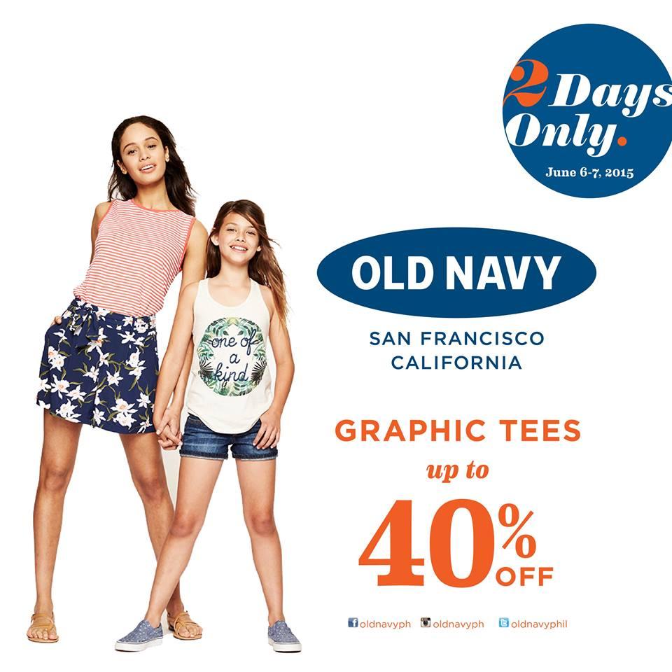 Old Navy Sales This Weekend: Manila Shopper: Old Navy Graphic Tee Weekend SALE: June 2015