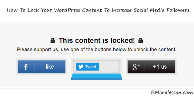 add content locker in your WordPress