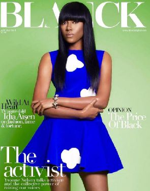 Yvonne Nelson covers Blank Magazine