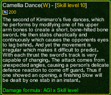 naruto castle defense 6.0 Camellia Dance detail