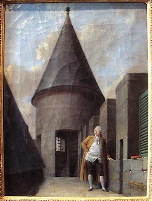 Painting of the King at The Temple, Jean-François Garneray