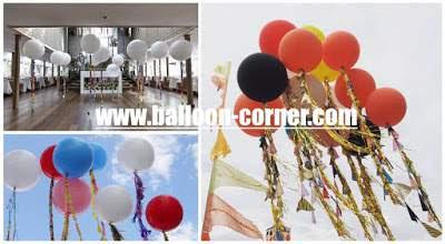 Contoh Aplikasi Dekorasi Balon Latex Warna Jumbo