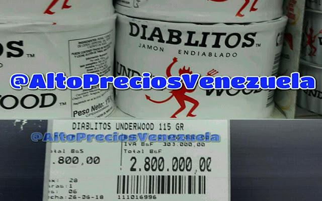 Una lata pequeña de Diablitos aumentó a 2.800.000 bolívares