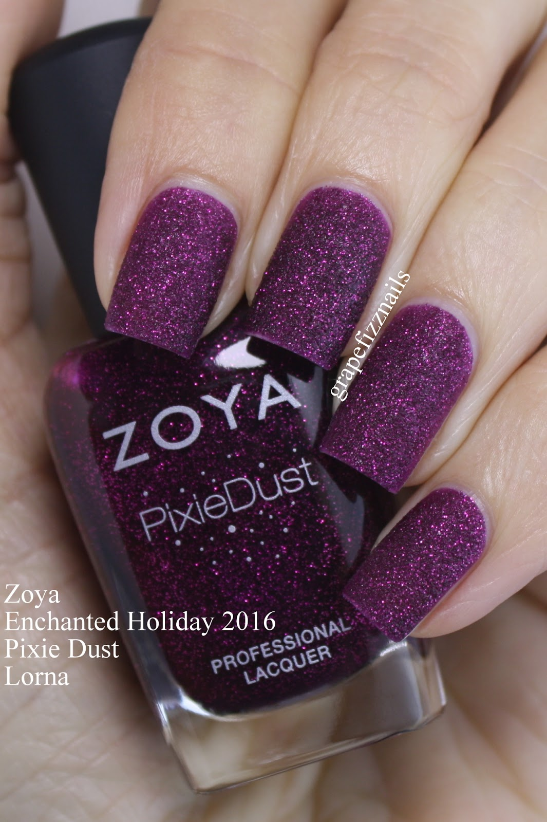 Grape Fizz Nails: Zoya Enchanted Holiday 2016 Swatches and Review