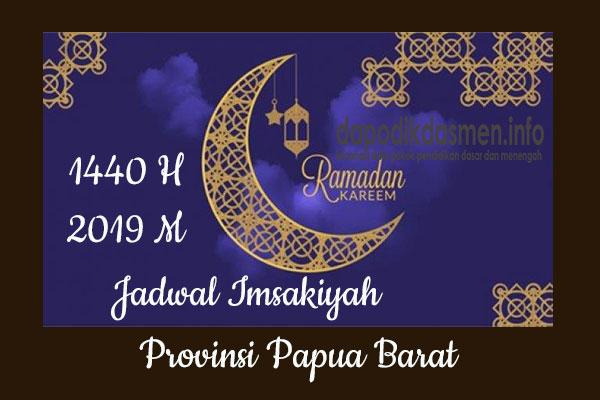 Jadwal Imsakiyah Ramadhan Provinsi Papua Barat