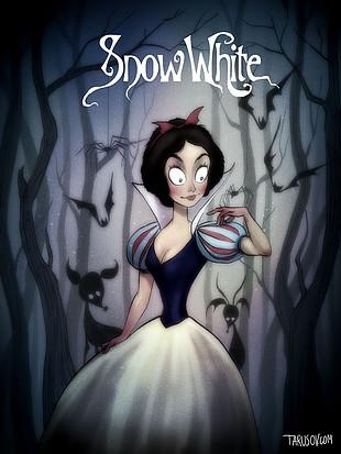 Los clásicos de Disney al estilo de Tim Burton: Blancanieves. Ver. Oír. Contar.