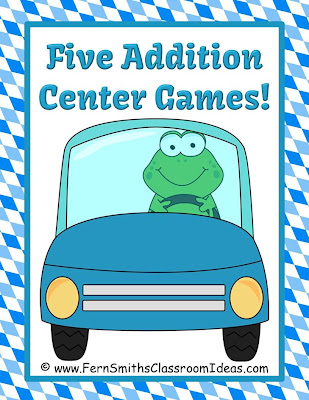 Fern Smith's Addition and Subtraction Math Centers for Cars and Planes