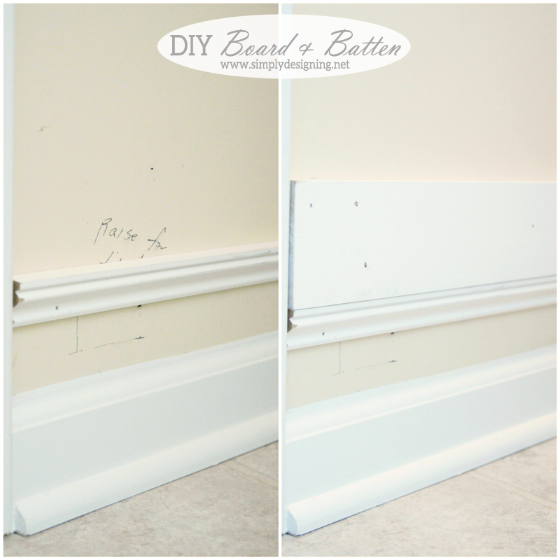 installing trim a few inches above Baseboards to heighten them