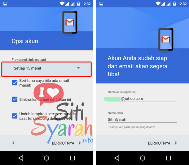 pengaturan yahoo mail android