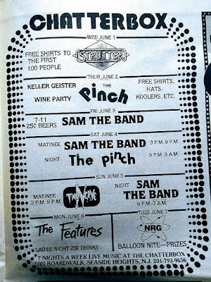 Chatterbox band lineup from Aquarian 1983
