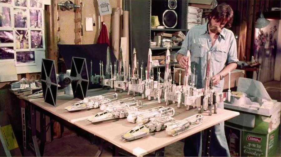 140 imágenes de las maquetas originales de Star Wars