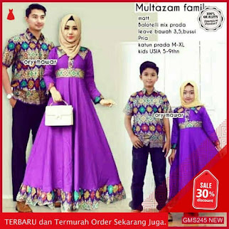 GMS245 TNTBT245B58 Batik Couple Gamis Family Multazam Dropship SK1346281477