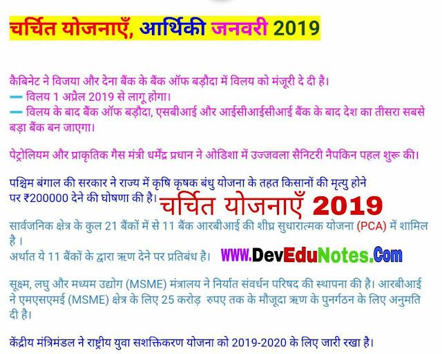 चर्चित योजनाएँ 2019, आर्थिक परिदृश्य 2019