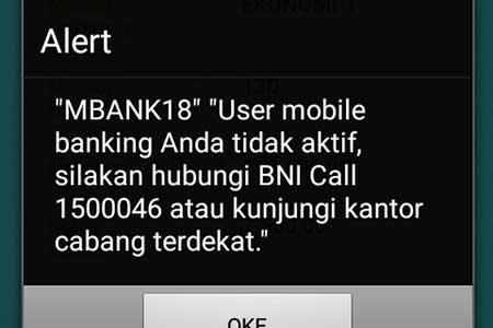 Cara Mengatasi Pesan Error Alert MBANK18 di Mobile Banking BNI?
