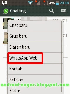 WhatsApp Web di Android