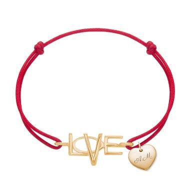 bransoletka Lilou Love z sercem prezent na Walentynki bransoletka charms
