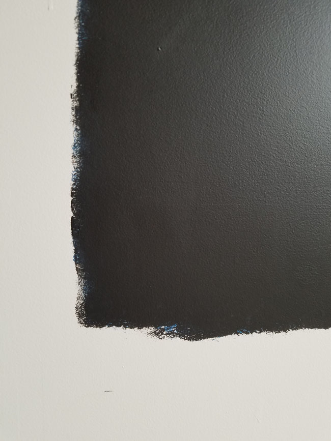 sheetrock wall into chalkboard