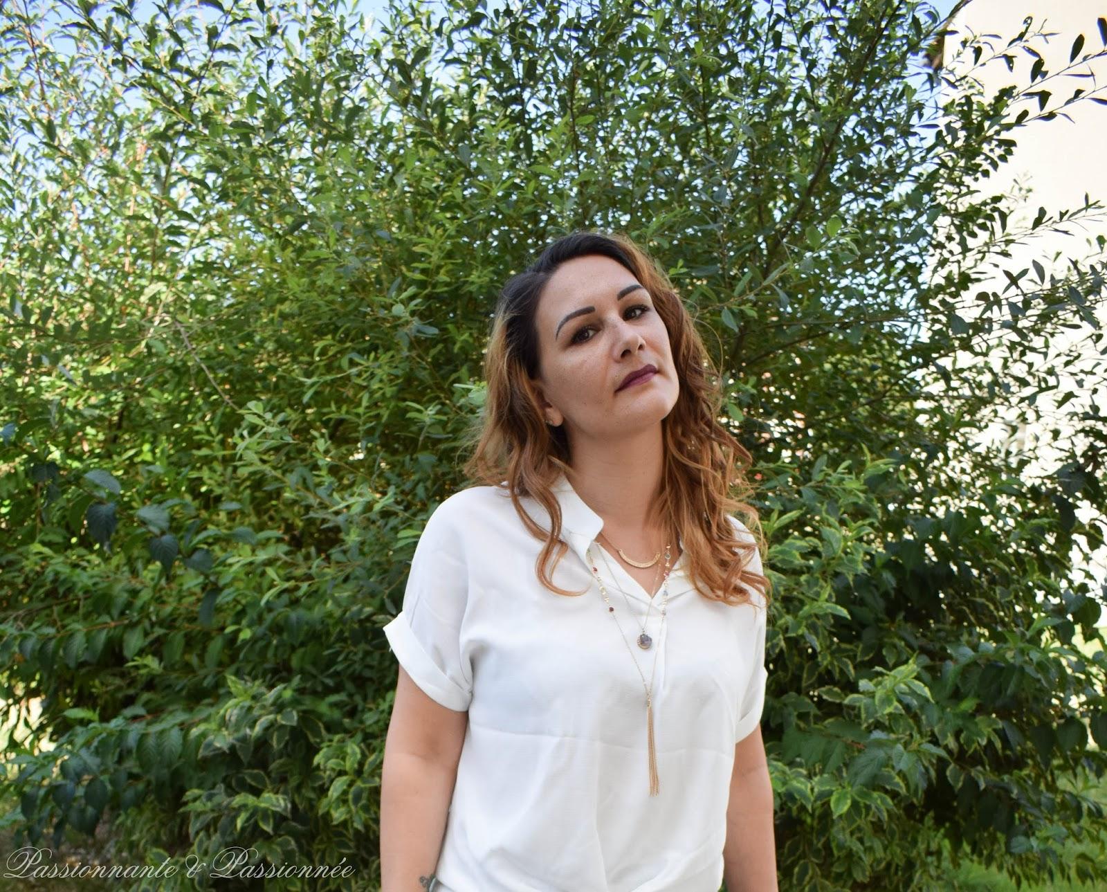 chemise blanche asymétrique