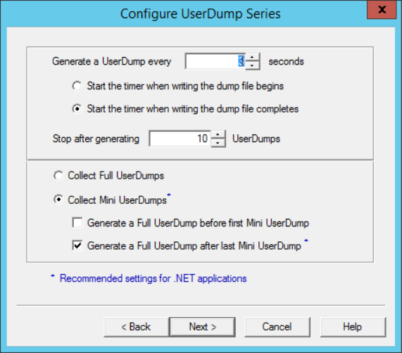 DbgSvc-Configure-UserDump-Series