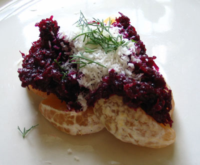 Shredded Beet, Dill and Coconut Salad