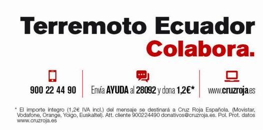 ayuda terremoto ecuador