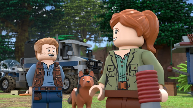 """LEGO Jurassic World: The Secret Exhibit"" - Owen Grady and Claire Dearing"