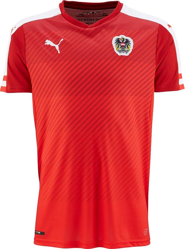 5f64a3e3f7 Puma divulga nova camisa titular da Áustria - Show de Camisas