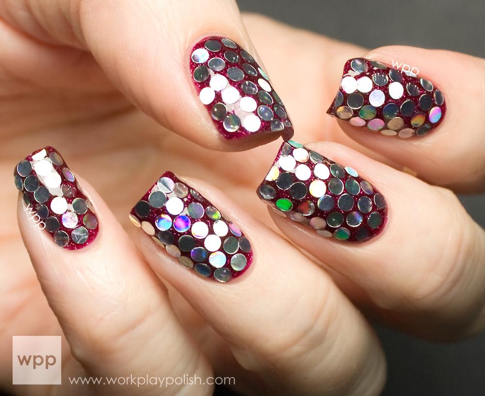 Born Pretty Round Noble Sheet Nail Art Glitter