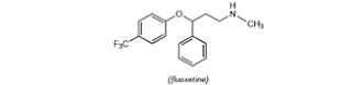 Fluoksetin ialah antidepresan serotonin reuptake inhibitor kelas selektif Fluoksetin