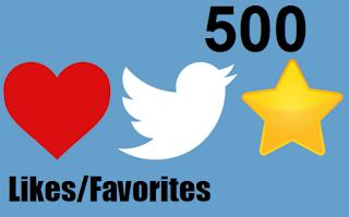buy 500 twitter favorites likes