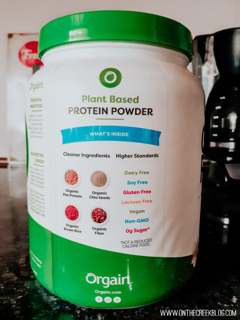 Orgain Protein Powder is plant based!