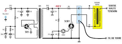 figure 2b brochage du thyristor scr1 et du transistor tr1. Black Bedroom Furniture Sets. Home Design Ideas