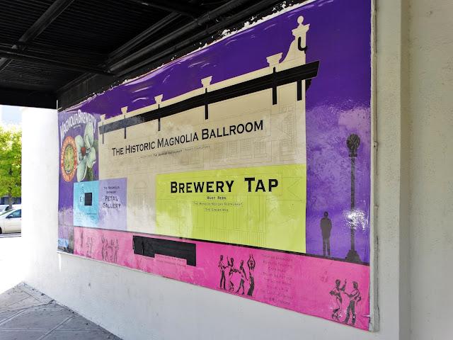 THE HISTORIC MAGNOLIA BALLROOM (poster on East wall - Milam Street)