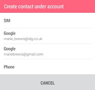 Aggiungere i contatti del telefono android nell'account Google