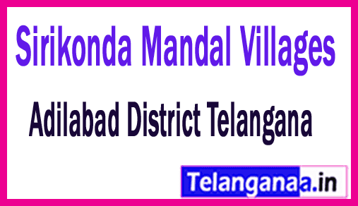 Sirikonda Mandal and Villages in Adilabad District Telangana